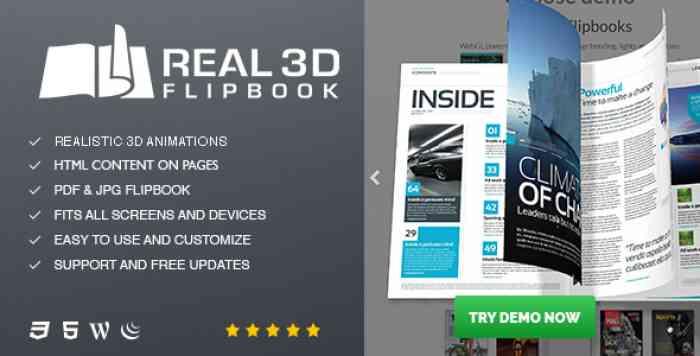 Real3D FlipBook v3.5.4 - WordPress Plugin