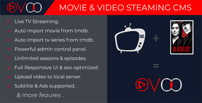 OVOO v2.5.3 - Movie & Video Streaming CMS with Unlimited TV-Series