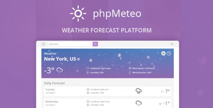 phpMeteo v1.8 - Weather Forecast Platform