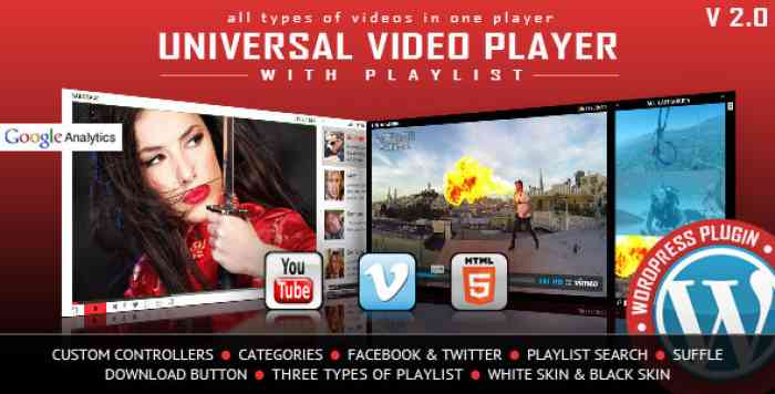 Universal Video Player v3.0 – WordPress Plugin
