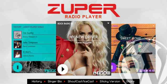 Zuper v1.4.7 - Shoutcast and Icecast Radio Player With History