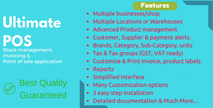 Ultimate POS v2.8.1 - Advanced Stock Management, Point of Sale & Invoicing application - nulled
