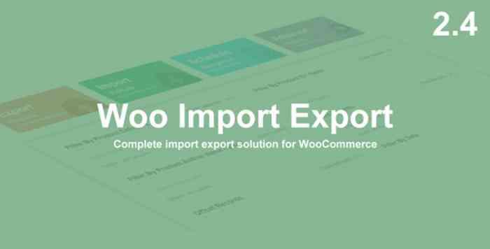 Woo Import Export v2.4.7
