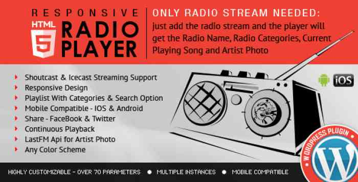 Radio Player Shoutcast & Icecast v2.1.2