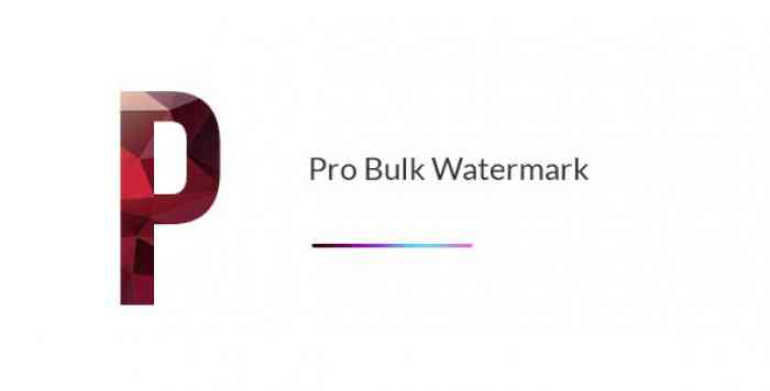 Pro Bulk Watermark Plugin for WordPress v2.0