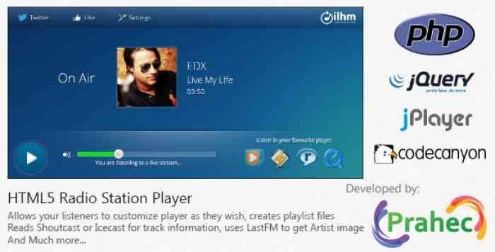 HTML5 Radio Station Player
