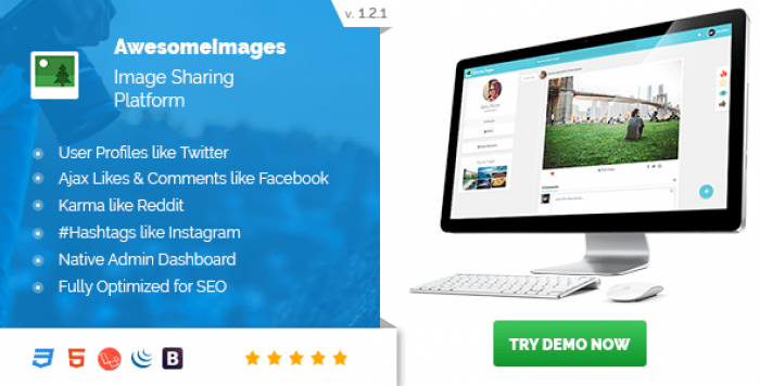 Awesome Images v1.2.1 - Photo Sharing Platform