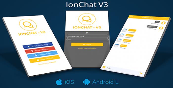 IonChat Firebase v3 Messenger Lite