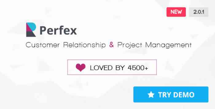 Perfex v2.0.1 - Powerful Open Source CRM