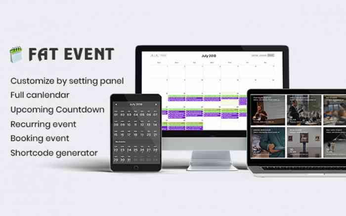 FAT Event v1.2 - WordPress Event and Calendar Booking