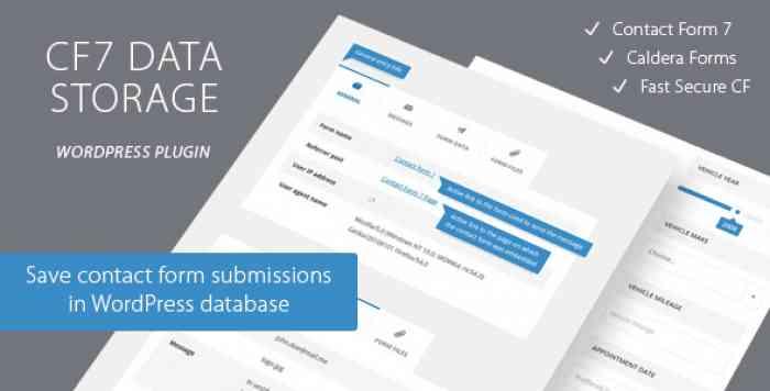 Contact Form CF7 Data Storage v1.1