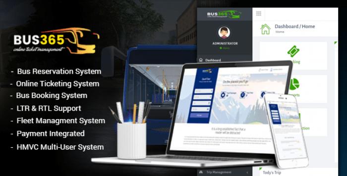 Bus365 v2.0 - Bus Reservation System with Website