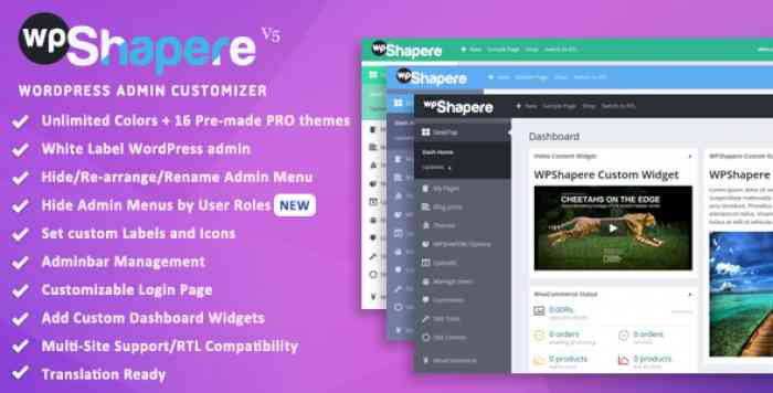 WPShapere v5.0.5 - WordPress Admin Theme