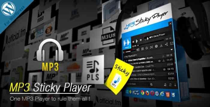 MP3 Sticky Player v5.5 - WordPress Plugin