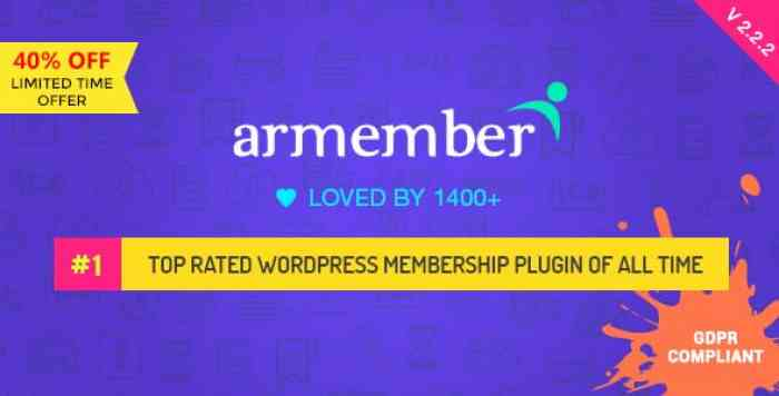 ARMember v2.2.2 - WordPress Membership Plugin