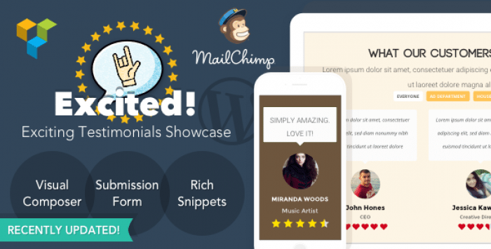 Testimonials Showcase for WordPress v1.3.2 - Excited!