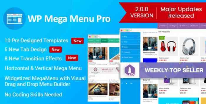 WP Mega Menu Pro v2.0.4 - Responsive Mega Menu Plugin