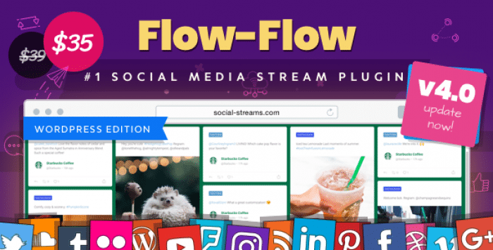 Flow-Flow v4.1.5 - WordPress Social Stream Plugin