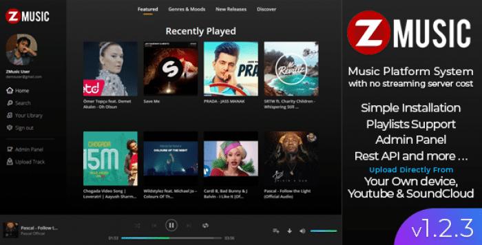 Zuz Music v1.2.3 - Advance Music Platform System
