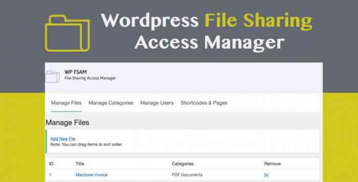 WP FSAM v1.0 - File Sharing Access Manager