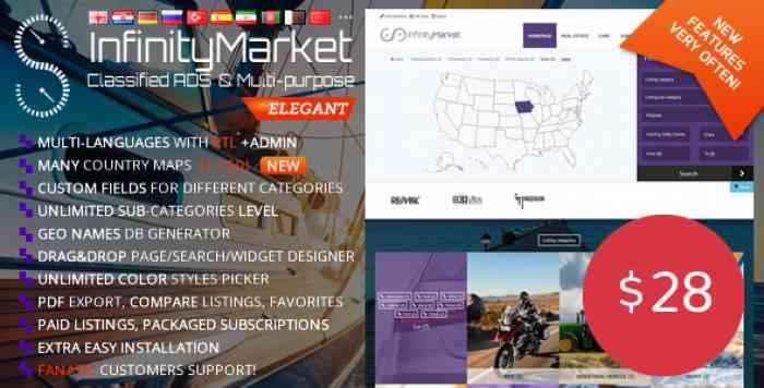 Infinity Market v1.6.4 - Classified Ads Script