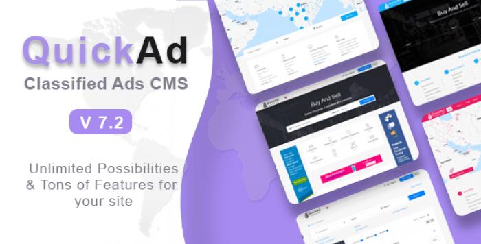 Quickad v7.3 - Classified Ads CMS