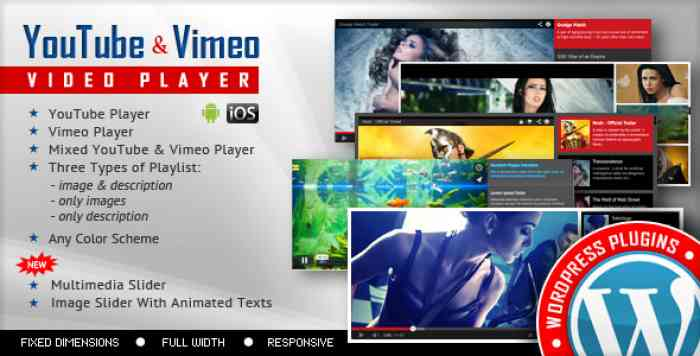 Youtube Vimeo Video Player and Slider v3.0.1