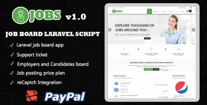IJOBS – Job board laravel script