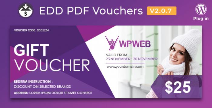 Easy Digital Downloads - PDF Vouchers v2.0.7