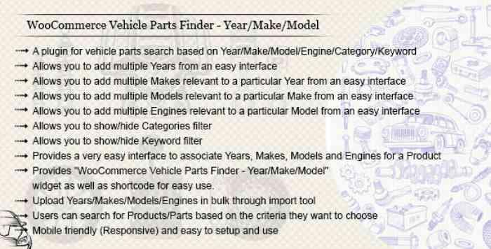 WooCommerce Vehicle Parts Finder v2.8
