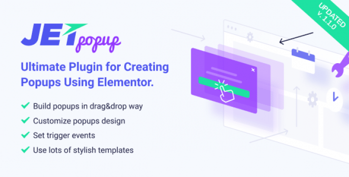 JetPopup v1.1.0 - Popup Addon for Elementor
