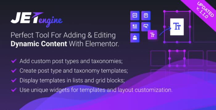 JetEngine v1.1.3 - Adding & Editing Dynamic Content