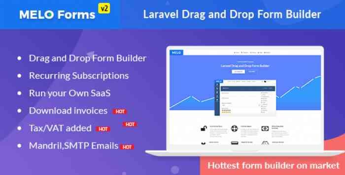 MeloForms v2.0 - Laravel Drag and Drop Form Builder Software