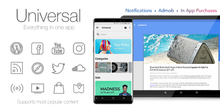 Universal v4.3.2 - Full Multi-Purpose Android App