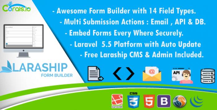 Laraship Form Builder - Drag & Drop Laravel Form Builder With CMS & Admin