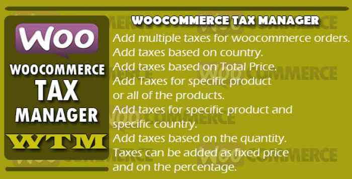 Woocommerce Tax Manager v1.1 - WTM
