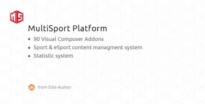 MSP v4.0.0 - MultiSport & eSport WordPress plugin