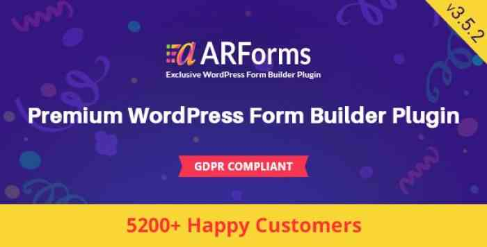 ARForms v3.5.2 - WordPress Form Builder Plugin