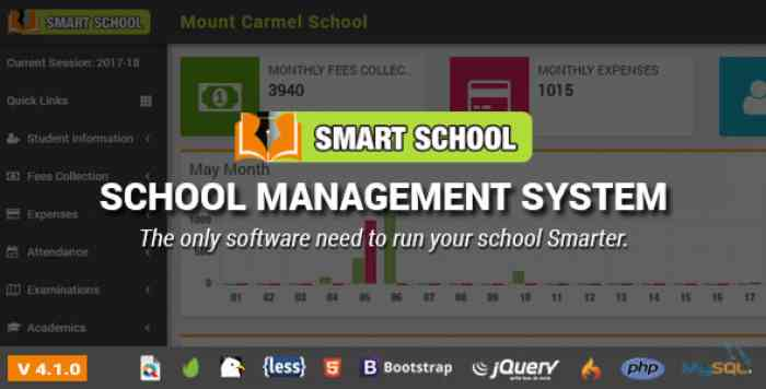 Smart School v4.1.0 - School Management System