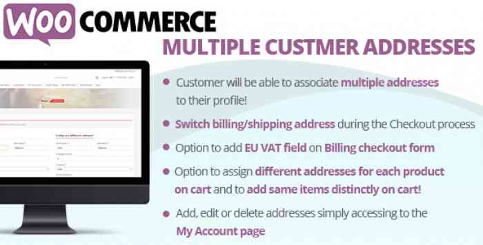 WooCommerce Multiple Customer Addresses v13.5