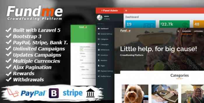 Fundme v2.3 - Crowdfunding Platform
