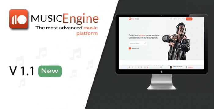 MusicEngine v1.1 - Social Music Sharing Platform - nulled