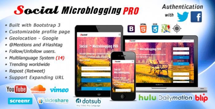 Social Microblogging PRO v1.7.1