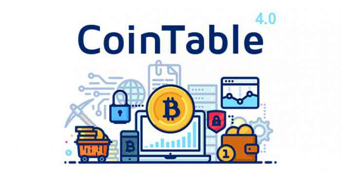 Coin Table v4.0 – Cryptocurrency Markets, ICOs & Mining CMS