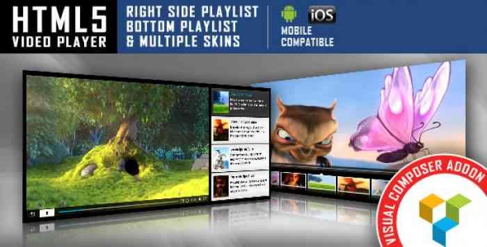 HTML5 Video Player v1.2.5.2 - Visual Composer Addon