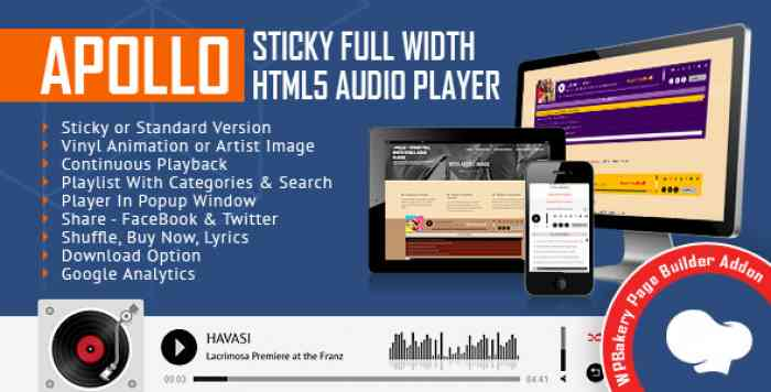 Apollo v1 3 0 1 – Audio Player for WPBakery Page Builder – Borntohell