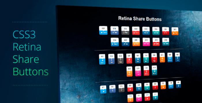 Retina Share Buttons v1.1