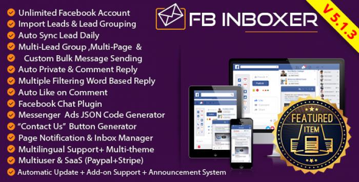 FB Inboxer v5.1.3 - Master Facebook Messenger Marketing Software - nulled