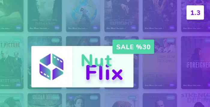 NutFlix v1.3 - Tv Series - Movies CMS - nulled