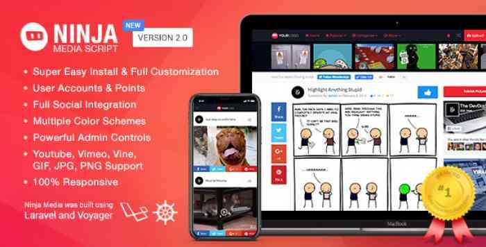 Ninja Media Script v2.0.5 - Viral Fun Media Sharing Site